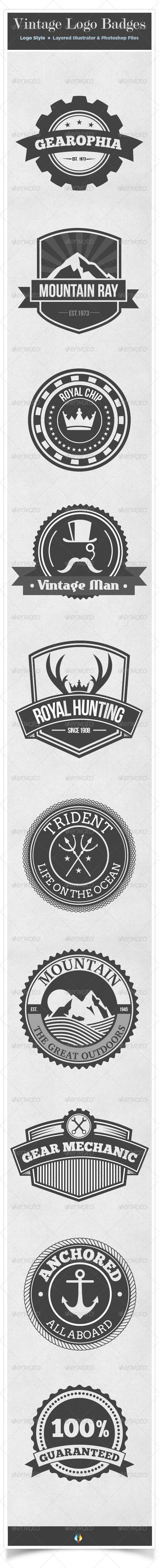 Vintage Logo Badges Set Template | Buy and Download: http://graphicriver.net/item/vintage-logo-badges-set/7999006?WT.ac=category_thumb&WT.z_author=overstocklogo&ref=ksioks