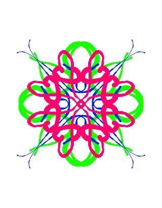 Květinková mandala