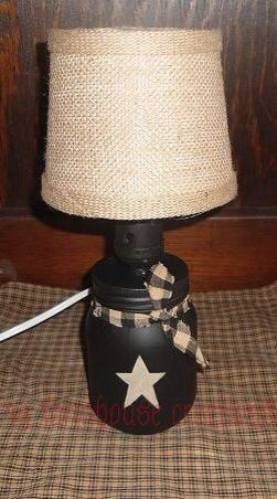 Omg so adorbs!! https://www.etsy.com/listing/183472414/primitive-mason-jar-lamp-country-home