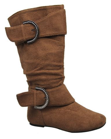 Bella Buckle Boot in Brown