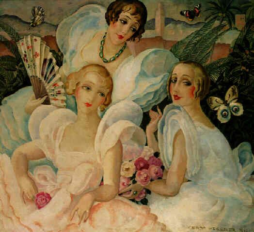 """Les Femmes Fatales"", 1933, by Gerda Wegener (Danish, 1886-1940)"