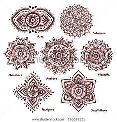 ૐ Juego de 7 Chakras ૐ Hermosos Ornamentales