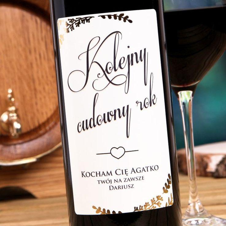 Personalizowane Czerwone Wino CUDOWNY ROK