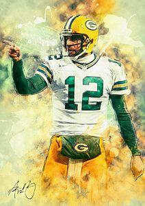 Green Bay Packers Painting - Aaron Rodgers by Taylan Apukovska