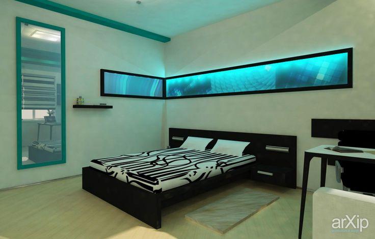 Спальня для молодого парня: интерьер, квартира, дом, спальня, современный, модернизм, потолок, 10 - 20 м2 #interiordesign #apartment #house #bedroom #dormitory #bedchamber #dorm #roost #modern #ceiling #10_20m2 arXip.com
