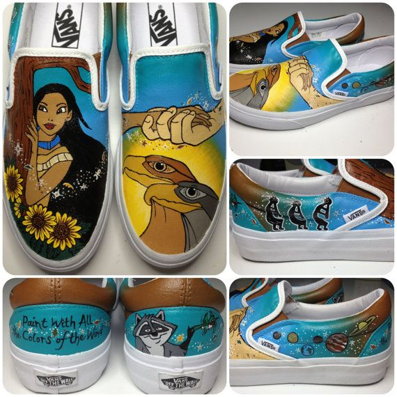 Pocahontas Shoes by KissaThisArt on Etsy, $135.00