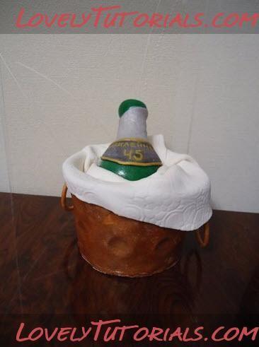 МК лепка Ведро с Шампанским на торт-Gumpaste Champagne Bucket with Sugarpaste Bottle - Мастер-классы по украшению тортов Cake Decorating Tutorials (How To's) Tortas Paso a Paso