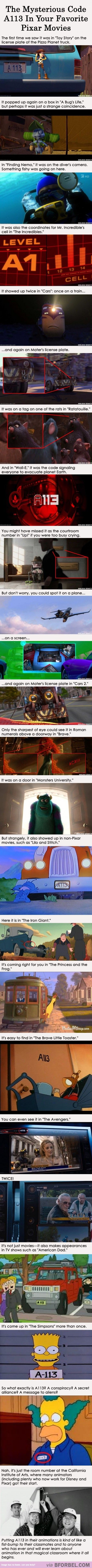"""The Mysterious A113 Code That Appeared In 22 Pixar Movies… As I was going down this entire pin the whole time I was just thinking """"I'm never gonna figure this out this is gonna be a mystery forever"""" but..."""