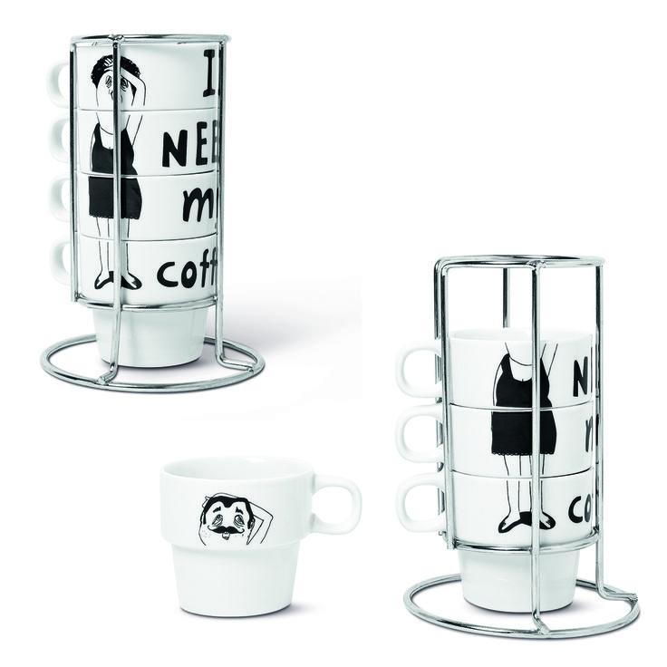 Filiżanki do espresso. Ze stojakiem. #cups #filiżanka