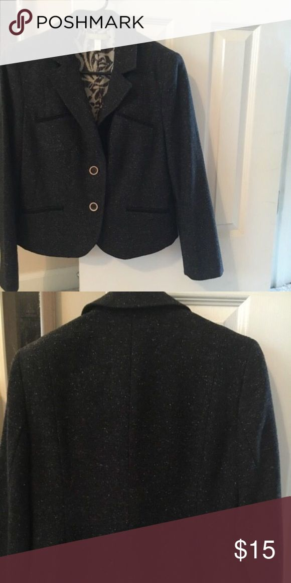 Women's Suit Jacket Sigrid Olsen suit jacket.  Size 6.  Material is Wool Blend.  Dark grey color.  In great condition. Sigrid Olsen Jackets & Coats Blazers