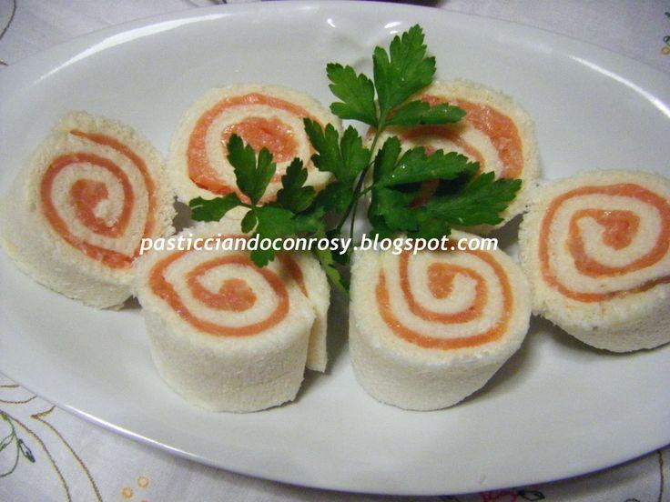 Girelle di pancarrè al salmone - Pasticciando con Rosy