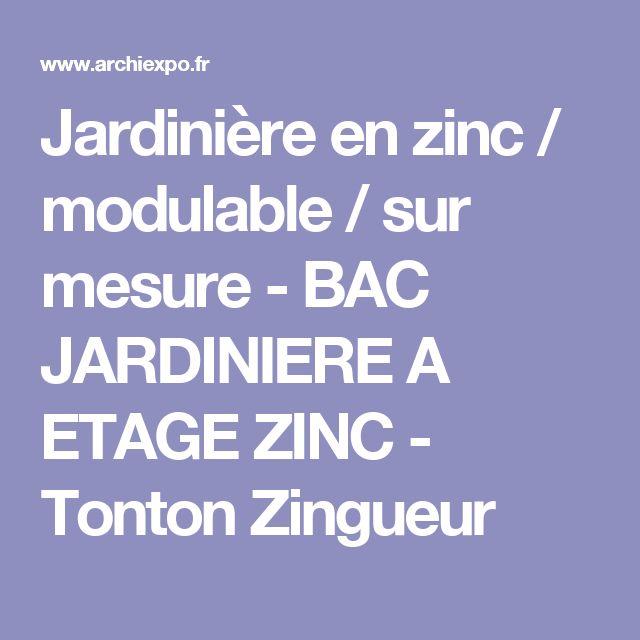 Jardinière en zinc / modulable / sur mesure - BAC JARDINIERE A ETAGE ZINC - Tonton Zingueur