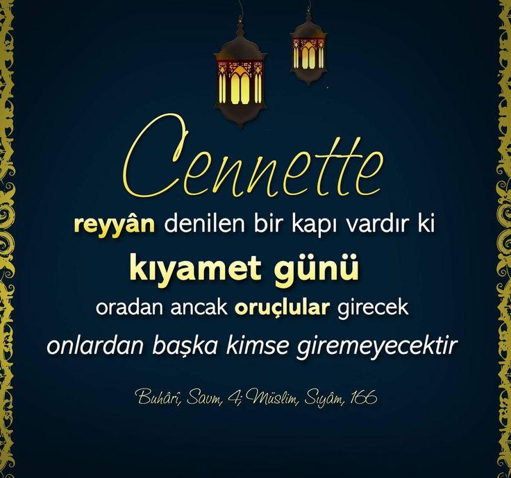 """""""Cennette reyyân denilen bir kapı vardır ki, kıyamet günü oradan ancak oruçlular girecek, onlardan başka kimse giremeyecektir.""""   [Buhârî, Savm, 4; Müslim, Sıyâm, 166]  #cennet #kapı #oruç #hayırlıramazanlar #iftar #ramazan #istanbul #türkiye #rize #trabzon #ilmisuffa"""