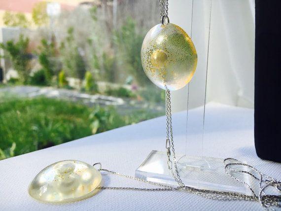 Aesidhe.com colgante Luna de plata 925 con perla de cultivo
