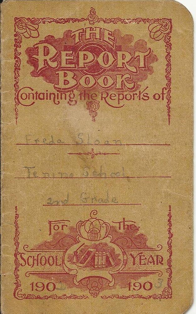 Tenino Washington Antique Elementary School Report Card Book 1903 Second Grade