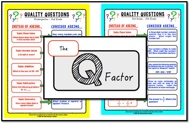 Math Coach's Corner: The Q Factor: Adding Quality to Our Questions