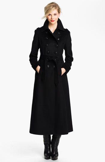Black Wool Maxi Coat | Down Coat