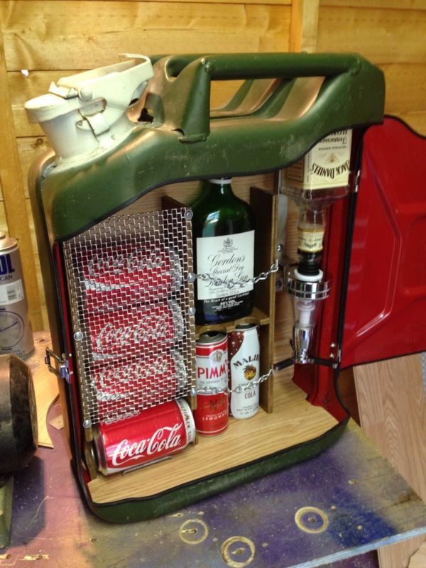Upcycled Jerry Can * Mini Bar * Ideal Gift * Camping Accessory*
