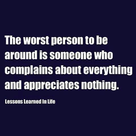 Something my husband says quite often about someone.
