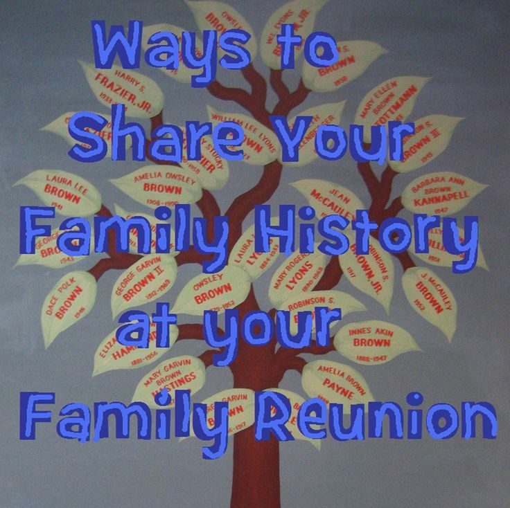 Ten Best Family History Ideas For A Reunion