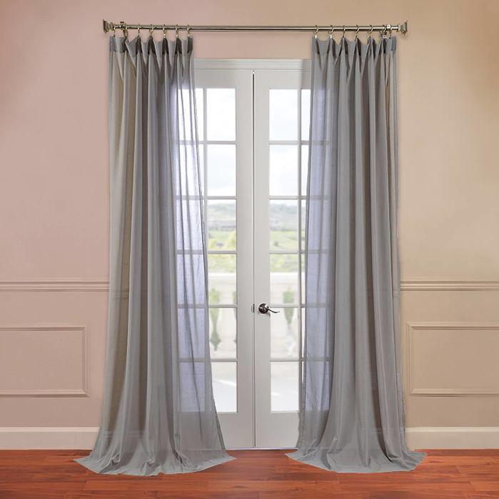 Sheer Pole Pocket Single Curtain Panel