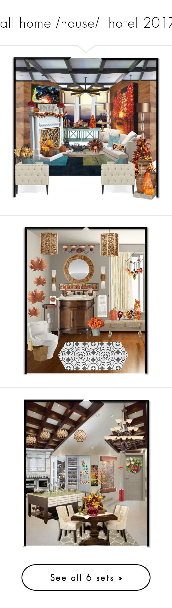 """fall home /house/  hotel 2017"" by dixiemartel ❤ liked on Polyvore featuring Umbra, CorLiving, Heathfield & Co., Redford House, Improvements, Bensen, Pine Cone Hill, Vagabond House, Fountain and Bernhardt"