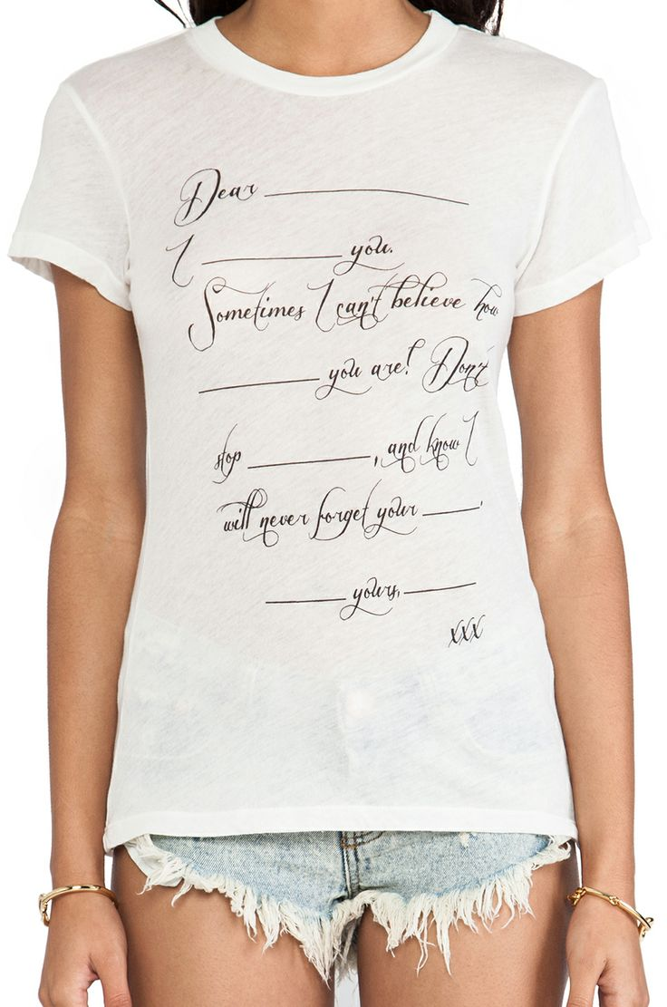 Wildfox Couture Love Letter Tee in Vintage Lace//