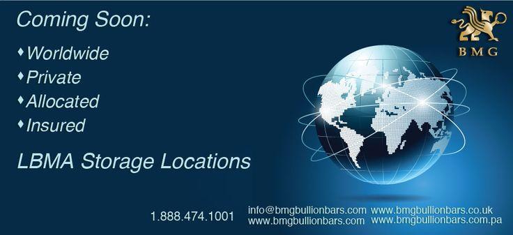 Coming Soon Worldwide LBMA Storage Locations