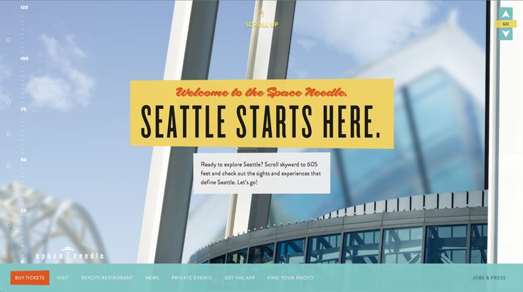 Seattle Space Needle - Example for parallax and stoytelling