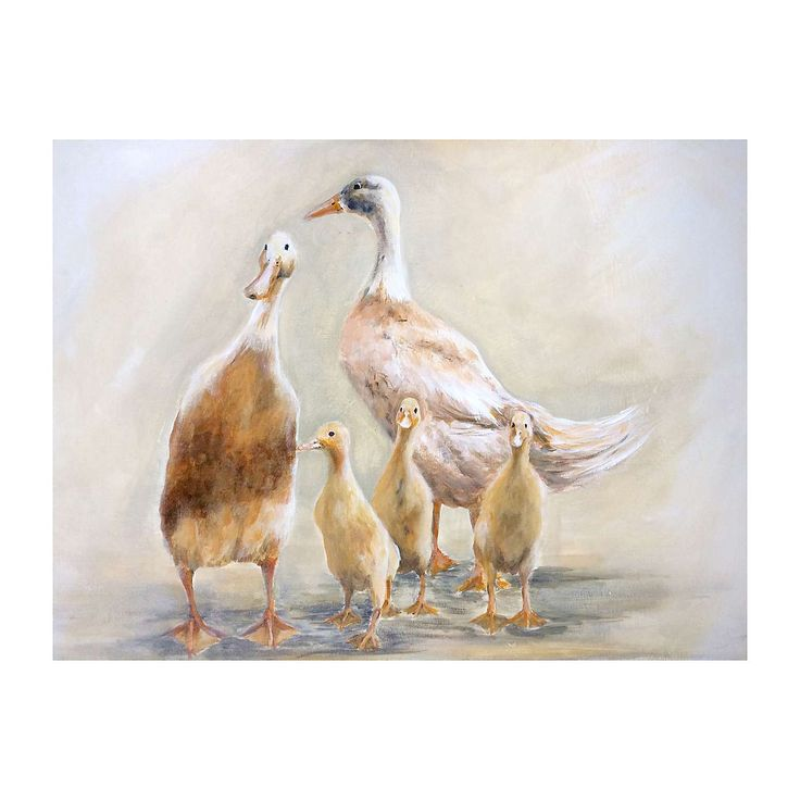 Duck Family Canvas  | Dunelm