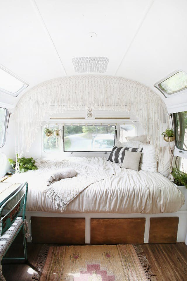 Before After Diy 1970s Airstream Makeover Apartment Therapy