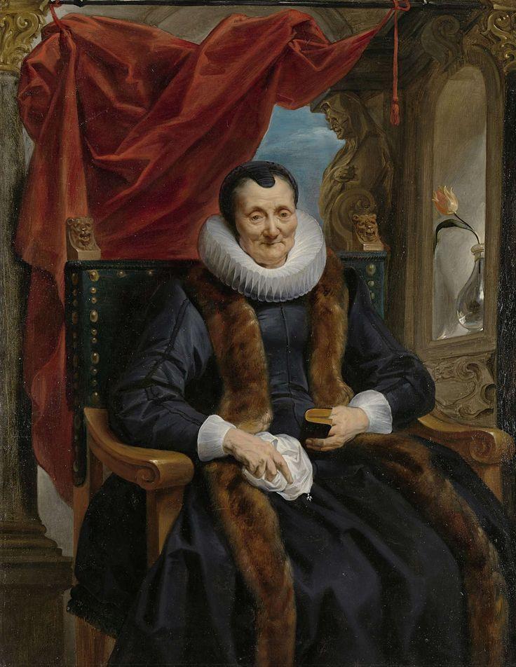 Portret van Magdalena de Cuyper, moeder van Rogier Le Witer, Jacob Jordaens (I), ca. 1635 - ca. 1636