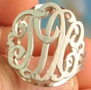 monogrammed ring <3 but not like the typical ones. this ones cuter!