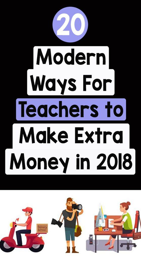 20 Modern Ways For Teachers to Make Extra Money in 2018_Pinterest_BoredTeachers