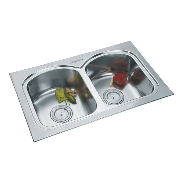 Buy Double Sink 317A Satin in Sinks through online at NirmanKart.com