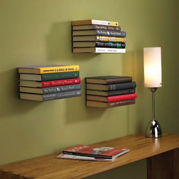 Floating Bookshelves | 24 Insanely Clever Gifts For Book Lovers. I would die if someone got me these!!! :D