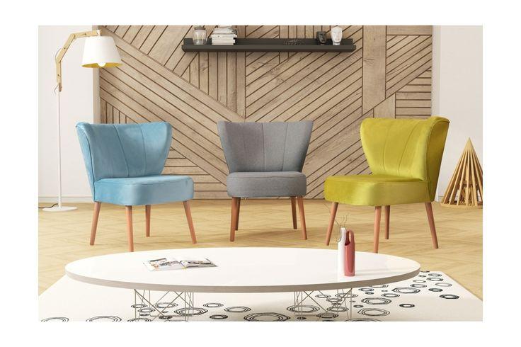 Fotelik klubowy Drom w stylu skandynawskim mix kolorów - Modo4u