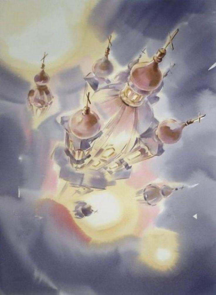 Петербургская акварель Константина Куземы - Ярмарка Мастеров - ручная работа, handmade