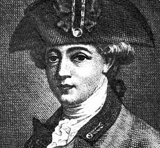 Major John Andre' was handsome, artistic, and beloved by the Loyalists. A cunning British Spy! He convinced Benedict Arnold to sell out West Point ... was hanged at age 31.  Because wearing his British uniform was too dangerous, Andre donned an American uniform for the treacherous trip to meet up with Arnold. Andre was stopped by a trio of American Spy Catchers dressed in British uniforms. Revealing themselves, they search Andre' and discover Arnold's papers hidden in his boot.
