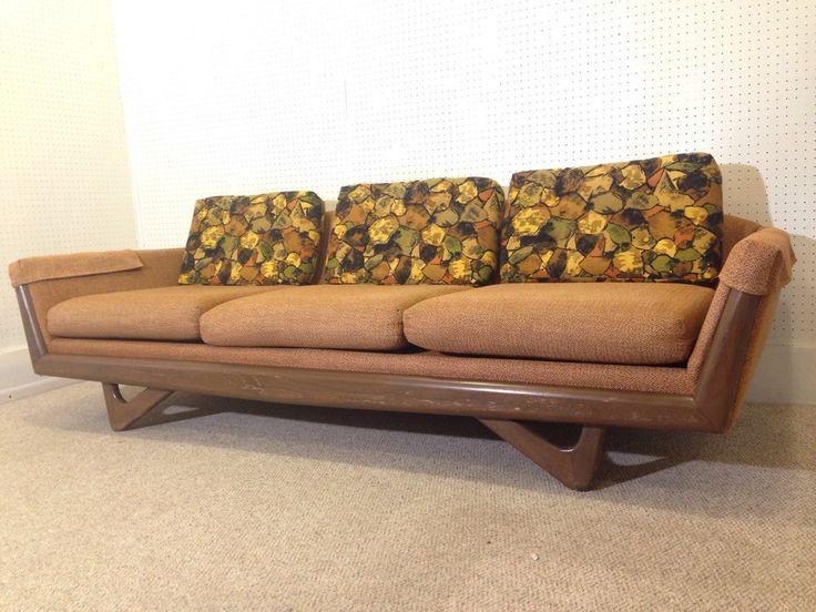 Adrian Pearsall Style Sofa   Heinous Fabric; Uber Style.