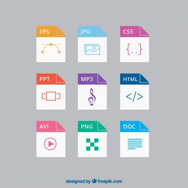 File formats Free Vector