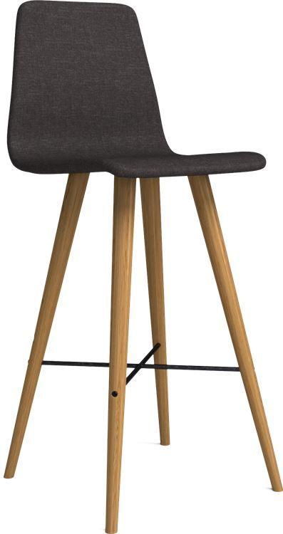 Beaver ist ein moderner Holzstuhl mit richtig viel Charakter und coolen Details. Die konischen Beine und das Stahlkreuz zwischen den Beinen verleihen ihm eine dynamische Formsprache und einen Retro-Look.