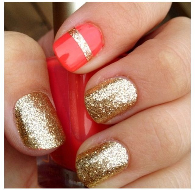 Gold Glitter and Accent Nails! Come to Beauty Bar & Browz in Ferndale, MI for all of your grooming and pampering needs! Call (313) 433-6080 to schedule an appointment or visit our website www.beautybarandbrowz.com to learn more about us!