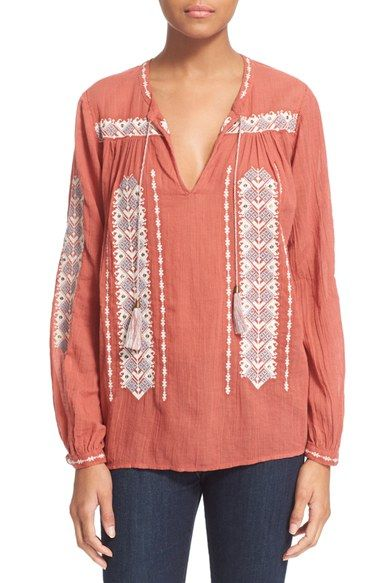 Joie 'Tsoline' Embroidered Blouse available at #Nordstrom