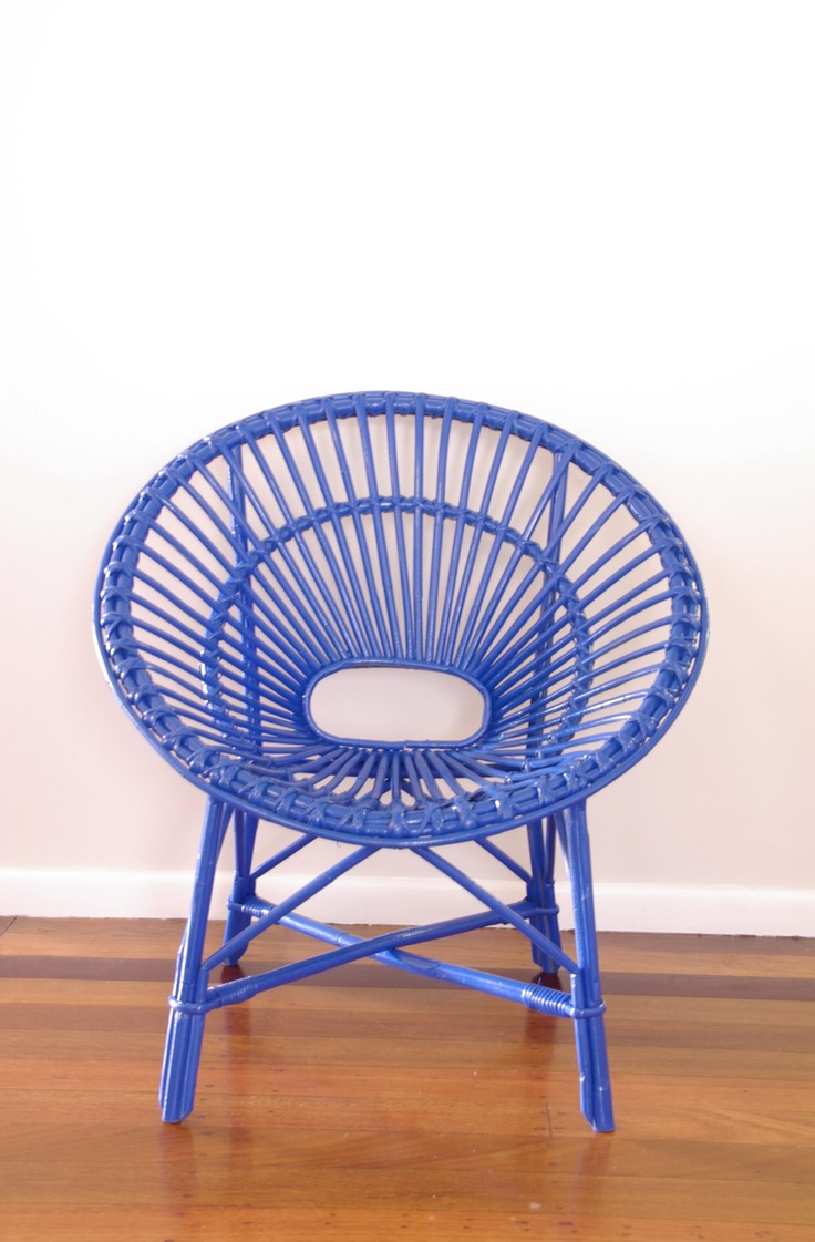 Purple saucer chair - Made To Order Upcycled Vintage Cane Saucer Chair Neon Blue 151 00 Via Etsy
