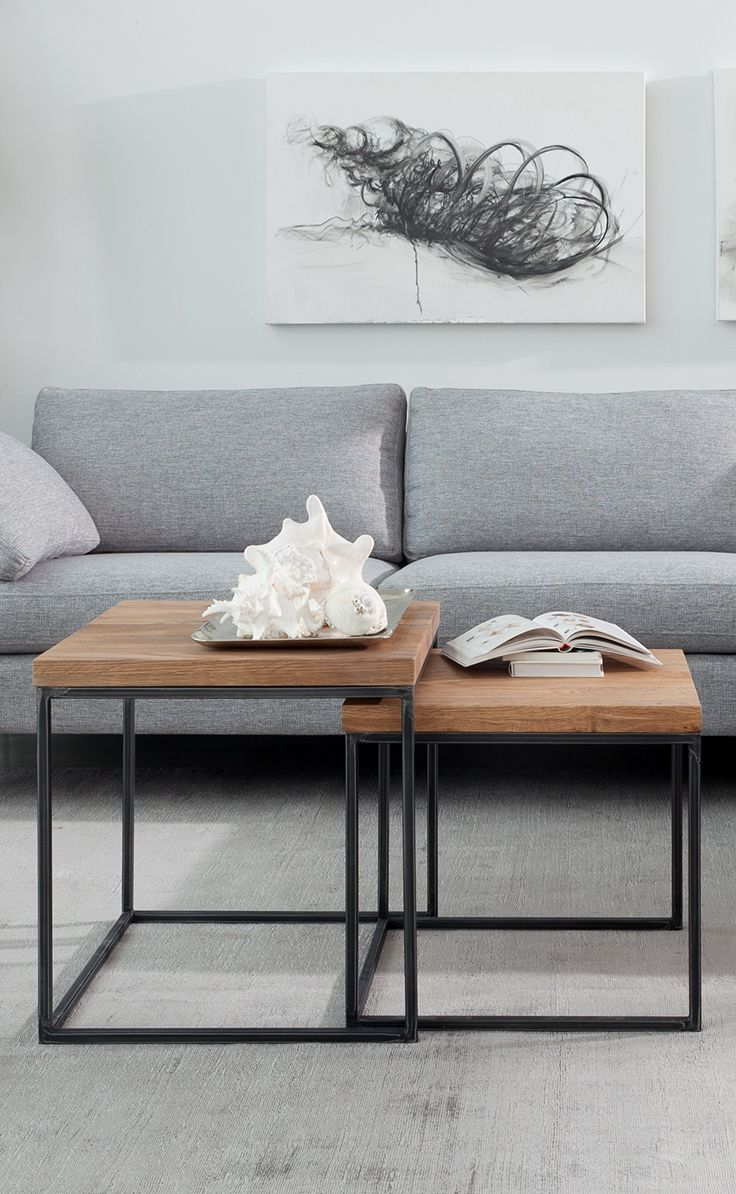 Contemporary Nesting Tables In Oak Wood  Taiga Contemporary Furniture