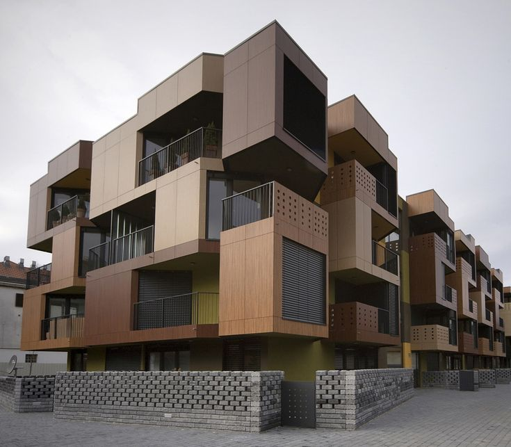 Tetris Exterior Apartment Building Design Model