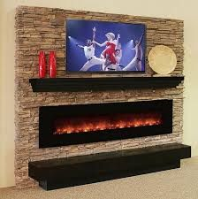 Image result for mantle over free standing electric fireplace