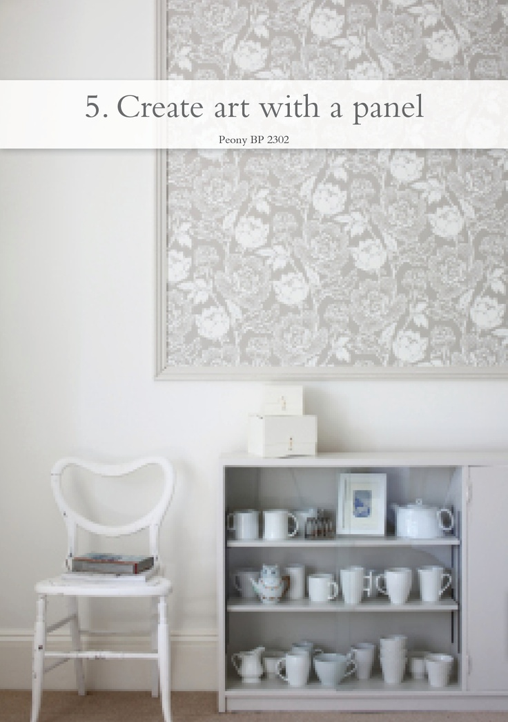 Create art with a panel - pictured Peony BP 2302