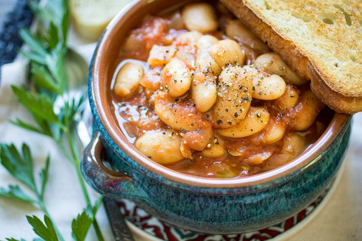 Greek Gigantes are, not surprisingly, GIANT beans! In this recipe, the gigantes are slow cooked in a rich tomato sauce until perfectly creamy…